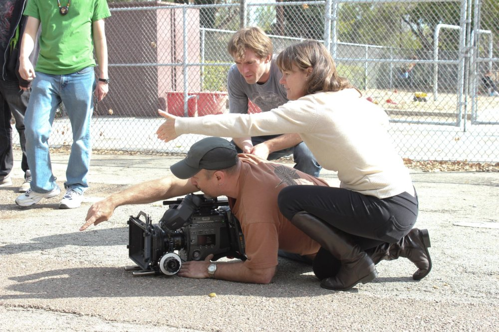 Kate directing the film Sticks & Stones